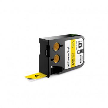 Etichette XTL in vinile Dymo - 19 mm - nero/giallo - 1868772