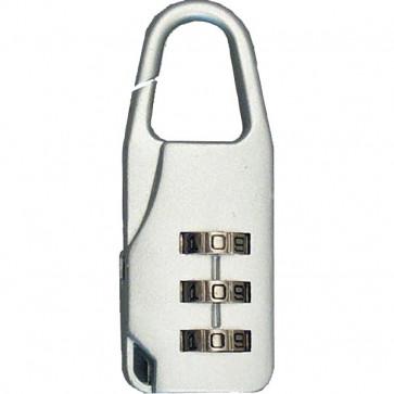 Lucchetto a combinazione Viso - 22x37,5x10 mm - 3 cifre - nero e argento - CA 3 COM SB