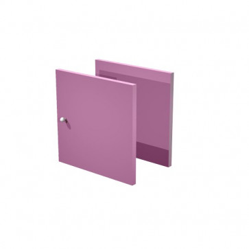 Set due antine Libreria caselle Maxicube Artexport - 32,2x32,1x1,6 cm - viola scarlatto - 2a MaxC/S (conf.2)