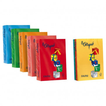 Carta colorata Le Cirque Favini 160 g/mq azzurro brillante A74G304 (risma250)