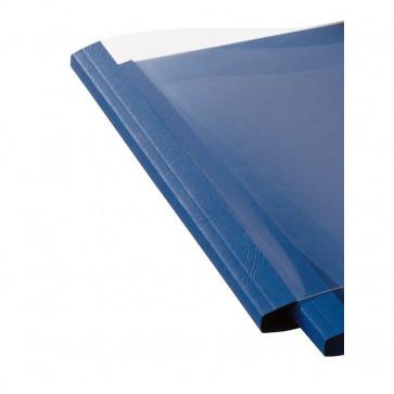 Cartelline termiche GBC goffrata 6 mm 50 fogli trasp./blu royal IB451034 (conf.100)