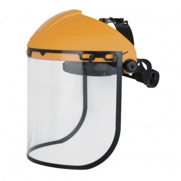 Porta visiera con protezione BALBI2 Delta Plus - giallo/nero - BALB2IN