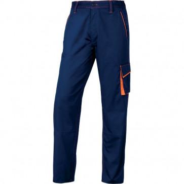 Pantaloni da lavoro Delta Plus - blu/arancione - XL - M6PANBMXG