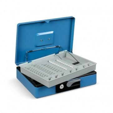 Cassetta portavalori Deluxe - 300x230x80 mm - blu - 3415BL