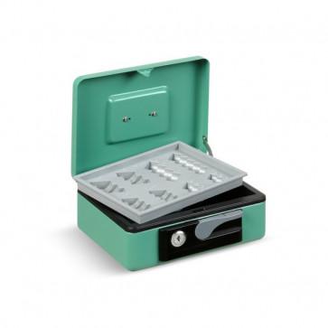 Cassetta portavalori Deluxe - 300x230x80 mm - verde - 3415VE