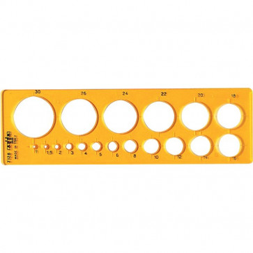 Maschera per cerchi piccoli Arda 19,3x5,8 cm 1/30 mm 7128