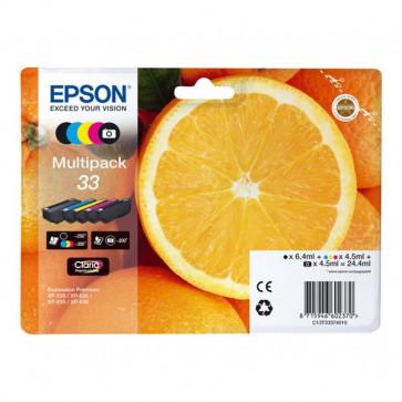 Originale Epson C13T33374010 Multipack cartucce blister RS Claria Premium T33/ARANCIA - 24.4 ml  5