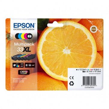 Originale Epson C13T33574010 Multipack cartucce alta capa blister RS Claria Premium T33XL/ARANCIA - 47 ml