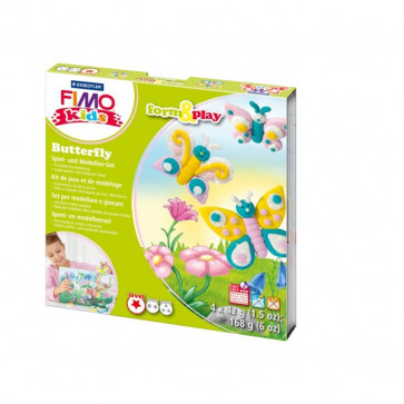 FIMO kids scatola gioco form&play Staedtler - Farfalle - 8034 10 LY