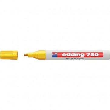 Marcatore permanente a vernice Edding giallo tonda 2-4 mm 750 005