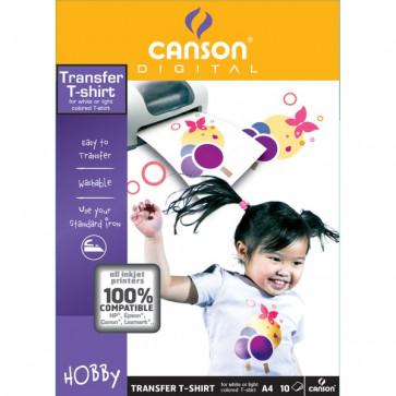 T-Shirt transfer Canson A4 140 g/mq 4567480 (conf.10)