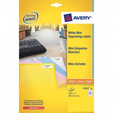 Mini etichette Avery Laser trasparente 22x12,7 mm 48 et/ff L7553-25 (conf.25)
