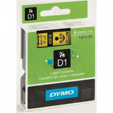 Nastri Dymo D1 6 mm x 7 m nero/giallo S0720790 (ex 43618)