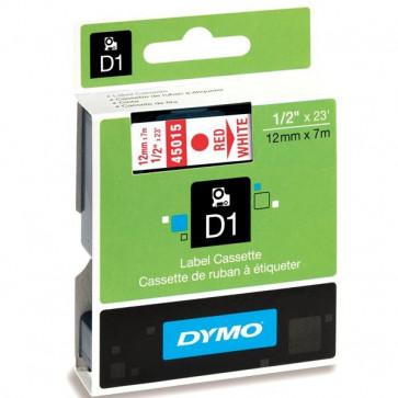 Nastri Dymo D1 12 mm x 7 m rosso/bianco S0720550 (ex 45015)