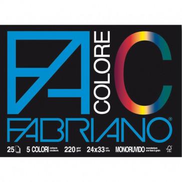 Fabriano Colore 24x33 cm assortiti 220 g/mq 25 fogli 65251524
