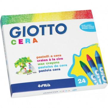 Confezione di pastelli a cera Giotto 9 mm da 3 anni in poi 282200 (conf.24)