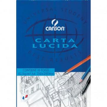 Blocco disegno carta lucida Canson A4 90/95 g/mq 50 fogli 757201
