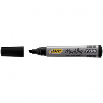 Permanent Marker 2300 Bic nero scalpello 3-5,5 mm 8209263 (conf.12)