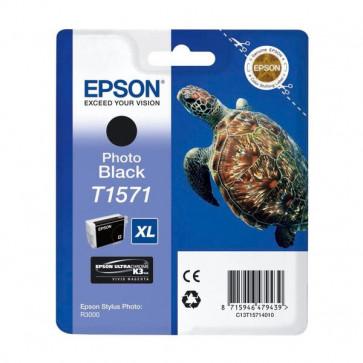 Orig. Epson C13T15714010 Cart. inkjet alta cap. ink pig. blister RS TARTARUGA- XL T1571 nero fotografico