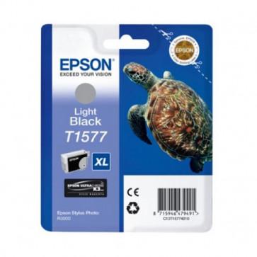 Orig. Epson C13T15774010 Cart.inkjet alta cap. ink pig. blister RS TARTARUGA-TAGLIA XL T1577 nero chiaro