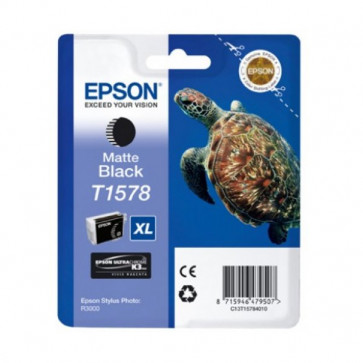 Orig. Epson C13T15784010 Cart. inkjet alta cap. ink pig. blister RS TARTARUGA-TAGLIA XL T1578 nero opaco