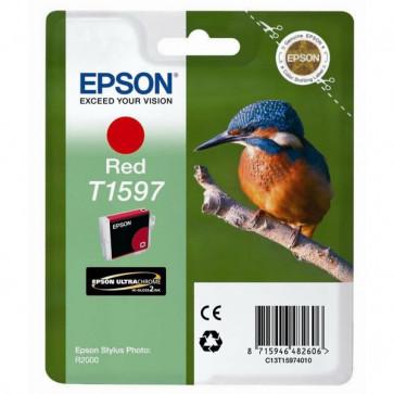 Originale Epson C13T15974010 Cartuccia inkjet ink pigmentato blister RS Martin Pescatore-Taglia XL rosso