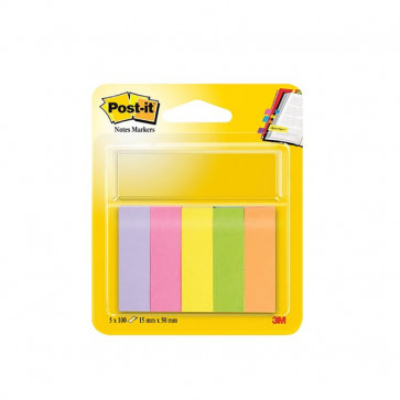 Post-it® Notes Markers 15x50 mm giallo, arancio, rosa neon, rosa, verde 670-5 (conf.5)