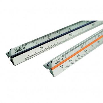 Scalimetro Tecnostyl 30 cm architettura 3/32-3/16, 1/8-1/4, 3/8-3/4, 1/2-1, 1/2-3/16 91/ARC