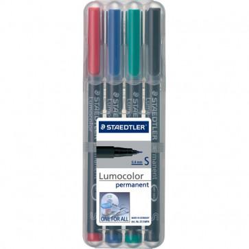 Penna punta sintetica Lumocolor Permanent Staedtler-assortiti-superfine-0,4 mm-313 WP4 (conf.4)