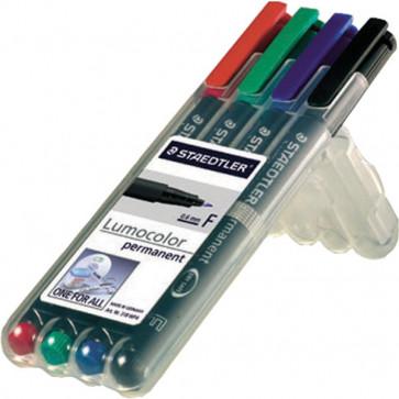 Penna punta sintetica Lumocolor Permanent Staedtler assortiti fine 0,6 mm 318 WP4 (conf.4)