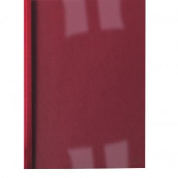 Cartelline termiche GBC goffrata 4 mm 40 fogli trasp./rosso IB451225 (conf.100)