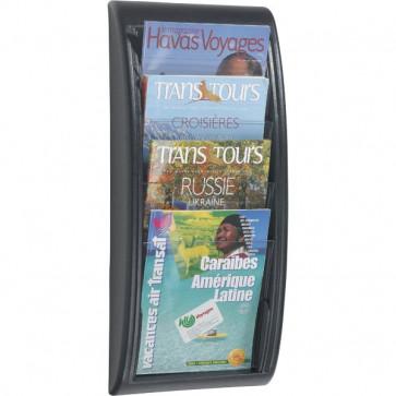 Espositore da muro componibile Paperflow Modulo a 4 tasche f.to A4 29x9,5x65 cm nero 4061.01