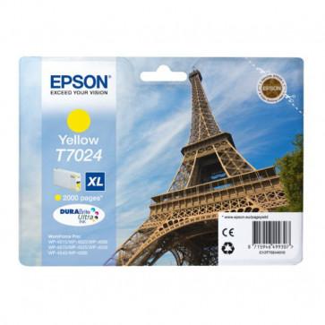Originale Epson C13T70244010 Cart. inkjet alta cap. pigment. blister RS DURABRITE ULTRA XL T7024 giallo
