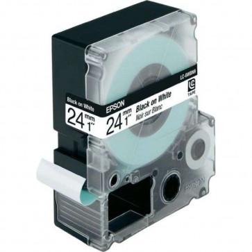 Nastro per etichettatrice LC Epson - 24 mm x 9 m - nero/bianco - C53S656006