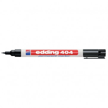 Marcatore permanente a punta extra-fine Edding nero 0,75 mm E404-001
