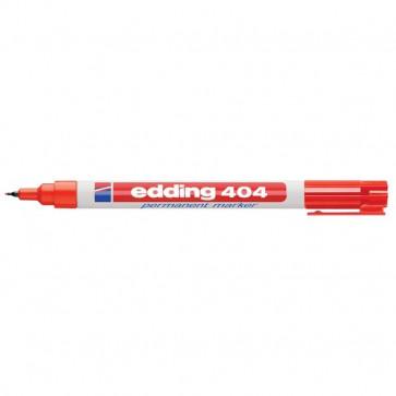 Marcatore permanente a punta extra-fine Edding rosso 0,75 mm E404-002
