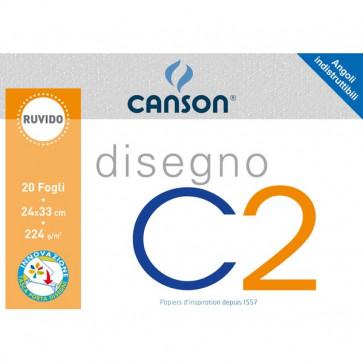 Canson disegno x2 Ruvido 24x33 cm 125 g/mq 20 ff 90033/100500446