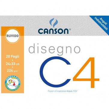Canson disegno x4 Ruvido 33x48cm 224 g/mq 20 ff 90043/100500452