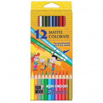 Pastelli STUDIO Koh-i-noor 3,3 mm da 3 anni in poi DH3652G (conf.12)