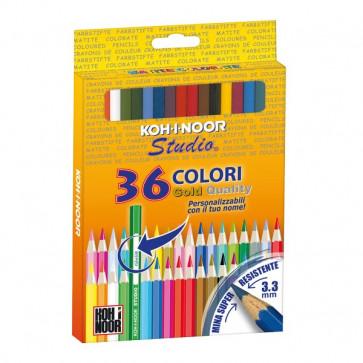 Pastelli STUDIO Koh-i-noor 3,3 mm -da 3 anni in poi DH3655G (conf.36)