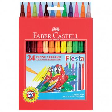 Pennarelli FIESTA STANDARD Faber Castell 0,7 mm 6+ 153024 (conf.24)