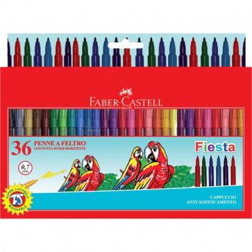 Pennarelli FIESTA STANDARD Faber Castell 0,7 mm 6+ 153036 (conf.36)