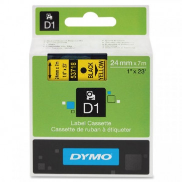 Nastri Dymo D1 24 mm x 7 m nero/giallo S0720980 (ex 53718)