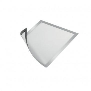 Cornice magnetica Durable A4 25x0,45x32,5 cm porta avvisi argento metallizzato 4869-23 (conf.5)