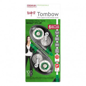 Correttore a nastro Mono Tombow 4,2 mm 10 m. PCT-YT4-2P (conf.2)