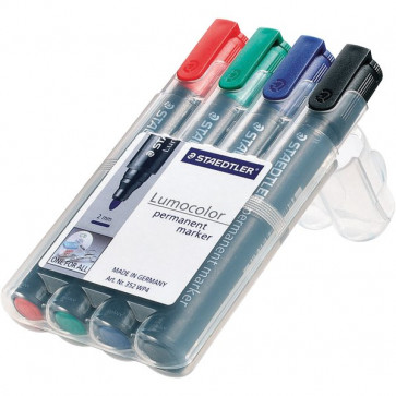 Marcatore Lumocolor Permanent Staedtler assortiti tonda 2 mm 352 WP4 (conf.4)