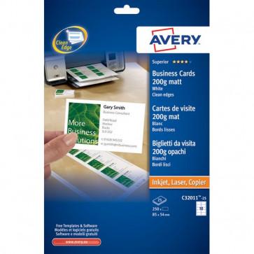Biglietti da visita Quick&Clean™ Avery Laser bianco 200 g/mq C32011-25 (conf.250)