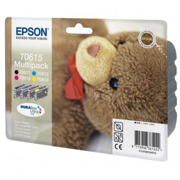Originale Epson C13T06154010 Conf. 4 cartucce inkjet blister RS T0615 nero+ciano+magenta+giallo