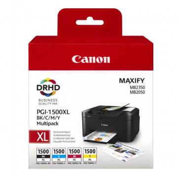 Originale Canon 9182B004 Conf. 4 cartucce inkjet blister MULTIPACK PGI-1500XL BK/C/M/Y 4