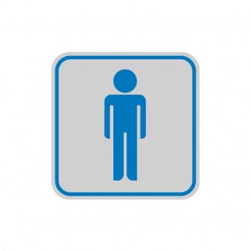 Cartelli segnaletici adesivi Cartelli Segnalatori - 82x82 mm - toilette uomo - 9642B (conf.10)